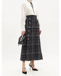 Dolce & Gabbana ハイライズ コットンブレンドツイード スカート Black