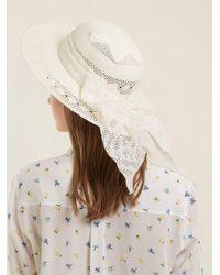 Maison Michel White New Alice Straw Hat