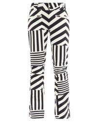 Perfect Moment Black Star Dazzle Striped Soft-shell Ski Trousers