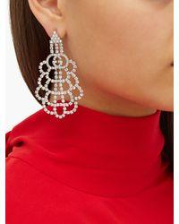 Gucci Multicolor GG Crystal Drop Earrings