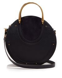 Chloé Blue Pixie Leather And Suede Cross Body Bag