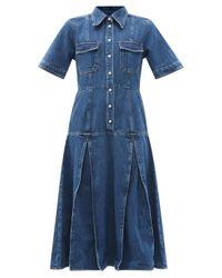 Wales Bonner セント キャサリン シャツドレス Blue