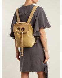 J.W. Anderson - Natural Pierce Mini Suede And Leather Backpack - Lyst