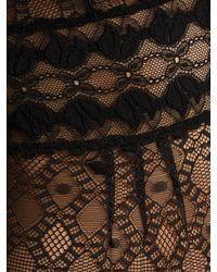 Stella McCartney Black Jasmine Inspiring Lace V Neck Bodysuit