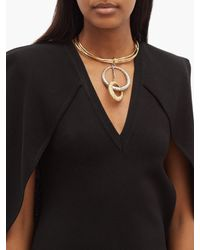 Givenchy Metallic Eclipse Two-tone Ring Necklace