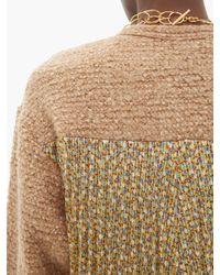 Junya Watanabe フローラルプリント プリーツ&ブークレ セーター Multicolor