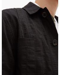 メンズ Oliver Spencer Havana リネンブレンドジャケット Black