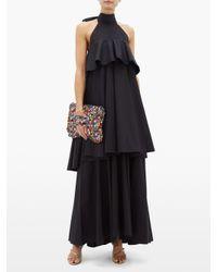 Robe volantée en coton Bon Bon LaDoubleJ en coloris Black