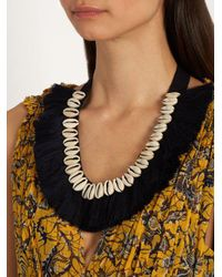 Figue - Blue Shell And Tassel Necklace - Lyst