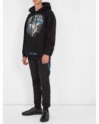 Off-White c/o Virgil Abloh Black Angel-print Hooded Cotton Sweatshirt for men