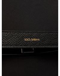 Dolce & Gabbana Black Leather-trimmed Canvas Backpack for men