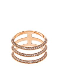 Ileana Makri | Pink White Diamond & Rose-gold Ring | Lyst