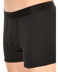 Sunspel Black Cotton Jersey Boxer Trunks for men