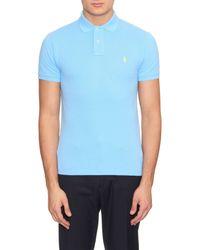 Polo Ralph Lauren Blue Slim-fit Cotton-piqué Polo Shirt for men