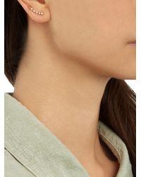 Loren Stewart | Metallic White-Diamond & Yellow-Gold Earring | Lyst