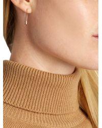 Loren Stewart - Pink Rose-Gold Safety Pin Earrings - Lyst