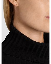 Loren Stewart   Metallic Yellow-Gold Heart Safety Pin Earrings   Lyst