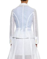 Nina Ricci White Broderie Anglaise Single-Breasted Jacket