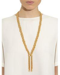 Aurelie Bidermann - Metallic Miki Gold-plated Braided Necklace - Lyst