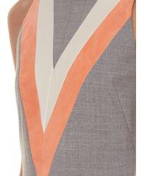 Altuzarra - Gray Klein Chevron-Print Dress - Lyst