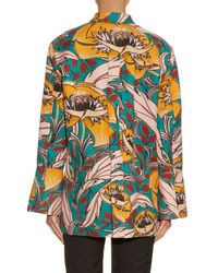 Marni - Multicolor Bellwoods-Print Cotton and Linen-Blend Jacket - Lyst