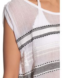 Lemlem - Gray Addis Multi-stripe Gauze Cover-up - Lyst