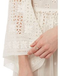 Jacquie Aiche | Pink Diamond, Aquamarine & Rose-gold Ring | Lyst