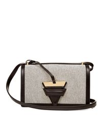 Loewe - White Barcelona Canvas And Leather Shoulder Bag - Lyst