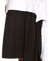 Y's Yohji Yamamoto - Black Asymmetric Jersey Dress - Lyst