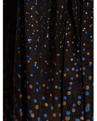 Thierry Colson - Black Grisette Polka-dot Midi Skirt - Lyst