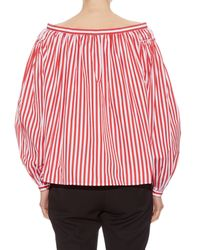 Maison Rabih Kayrouz - Red Striped Off-the-shoulder Blouse - Lyst