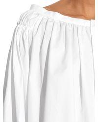Maison Rabih Kayrouz - White Off-the-shoulder Cotton-poplin Blouse - Lyst