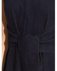 Tibi - Blue Tie-front Wide-leg Jumpsuit - Lyst