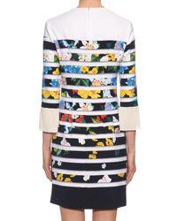 Mary Katrantzou - Blue Amellus Techno Flowers Stripe-print Dress - Lyst