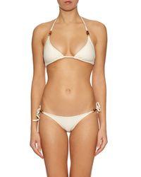 Heidi Klein Natural Tahiti Triangle Bikini Top