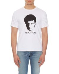 Undercover White Isolation Printed T-shirt for men