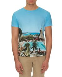 Orlebar Brown - Blue Ob T Hulton Getty Cotton T-shirt for Men - Lyst