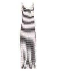 Velvet By Graham & Spencer   Blue Debbie Multi-striped Sleeveless Dress   Lyst