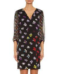 Diane von Furstenberg - Multicolor Carlton Silk-Chiffon Dress - Lyst