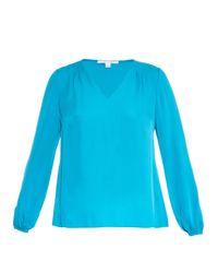 Diane von Furstenberg | Blue Arlenis Shirt | Lyst