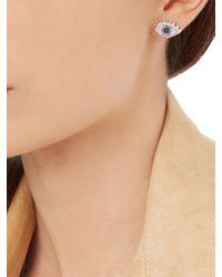 Delfina Delettrez - Multicolor Sapphire, Diamond & White-gold Earring - Lyst