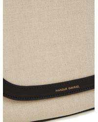 Mansur Gavriel - Black Cross-Body Canvas And Leather Satchel Bag - Lyst