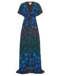 Mara Hoffman Blue Star-Print Crepe Maxi Dress