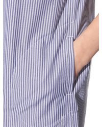 Vince - Purple Striped Cotton-poplin Dress - Lyst