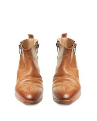 Golden Goose Deluxe Brand - Brown Distressed-Leather Ankle Boots - Lyst