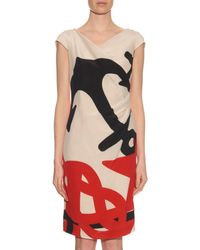 Max Mara - Natural Kiota Printed Silk Dress - Lyst