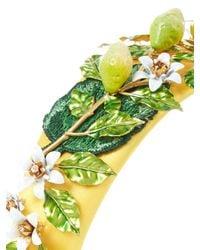 Dolce & Gabbana - Green Lemon And Daisy Embellished Headband - Lyst