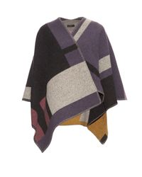 Burberry Prorsum - Black Wool And Cashmere-blend Wrap - Lyst