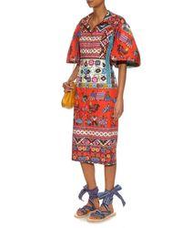 Brother Vellies - Blue Zanzibar Bovine Wraparound Cotton Sandals - Lyst