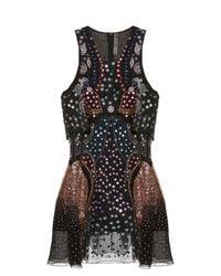 Mary Katrantzou | Black Juno Embellished Silk-georgette Dress | Lyst